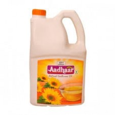 AADHAAR REFINED SUNFLOWER OIL  5LTR TIN