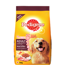 PEDIGREE ADULT DOG FOOD MEAT AND RICE 1.2KG RS 230