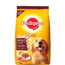 PEDIGREE ADULT DOG FOOD MEAT AND RICE 3KG RS 1000