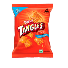 BINGO TANGLES TOMATO TANGLES 75GMS RS 20